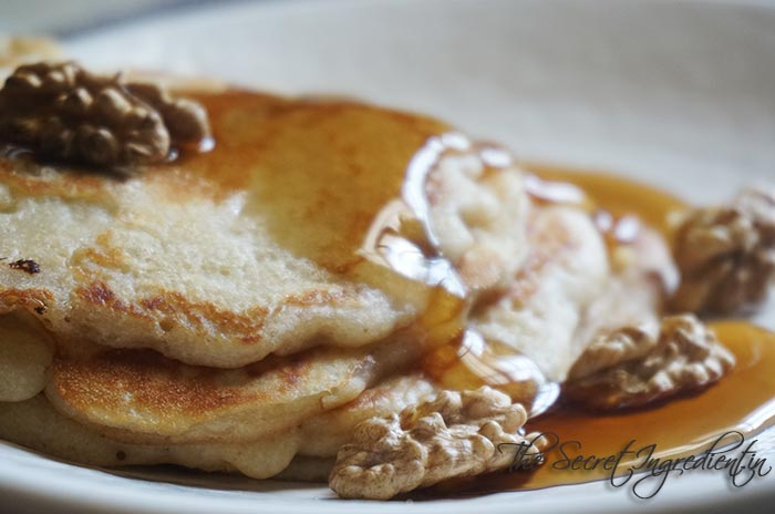 Eggless Walnut Pancakes