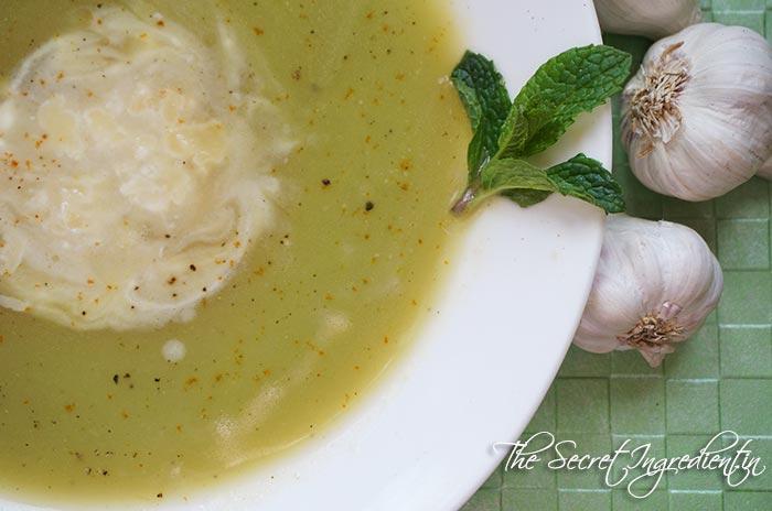 Zucchini Garlic Soup with Yak Cheese Shreddings » The Secret ...