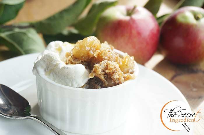 Apple Crisp Gluten Free Baked Apples With Oats Flourless Apple Crumble The Secret Ingredient