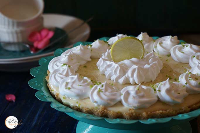Classic No Bake Key Lime Pie | Eggless Key Lime Pie Recipe