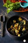 Punjabi Style Aloo Methi | Potato & Fenugreek Leaves in Indian Spices
