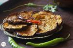 Air Fried Begun Bhaja | Baingan Bhaja | Bengali Style Spiced And Air Fried Aubergine Slices