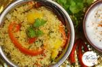 Cous Cous Pilaf | Couscous Vegetable Pulao | Mixed Vegetable Couscous Pulav