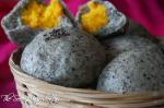 黑芝麻奶黄包 | Chinese Steamed Black Sesame Custard Buns | Black Sesame Nai Huang Bao