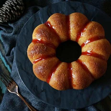 Eggless Honey Cake - Indian Bakery Style