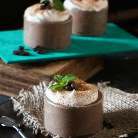 Boozy Mocha Mousse | Eggless Chocolate Rum Coffee Mousse