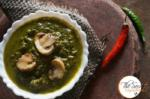 Palak Mushroom | Creamy Spinach Curry with Stir Fried Mushrooms