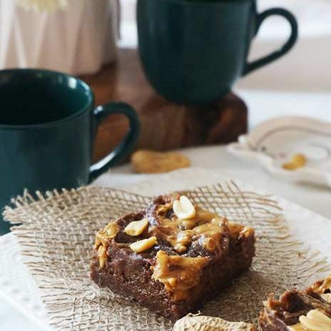 Whole Wheat Banana Peanut Butter Brownies