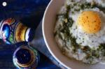 Fried Egg Over Polenta with Homemade Basil Pesto Recipe