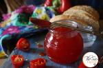 Red Chilli & Red Bell Pepper Jam | Red Chilli and Capsicum Preserve | Red Chilli Sweet Chutney