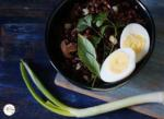 Indonesian Style Patni Red Rice Salad With Boiled Eggs in Pomegranate Molasses Sauce