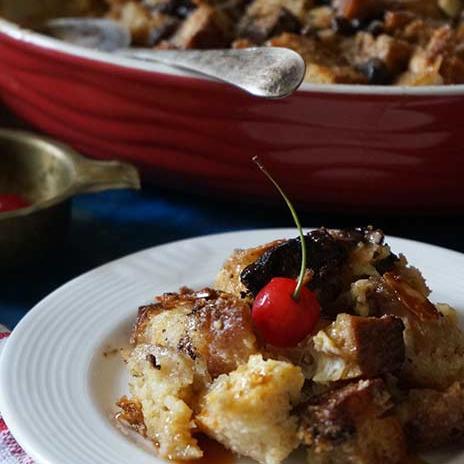 Sourdough Bread Pudding with Chocolate | Bread Pudding with Chocolate Raisins and Almonds