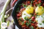 Shakshouka | Jewish Breakfast Eggs with Red Pepper and Tomatoes | Israeli Shakshuka