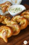Soft Pretzels | Crunchy Pretzels with Soft Centres with Cheesy Chives Dip