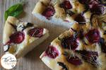 Italian Focaccia Bread with Strawberries | Strawberry Focaccia with Maple Caramelized Onions, Basil and Rosemary